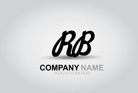Vector Hand Drawn Letter RB Style Alphabet Font.