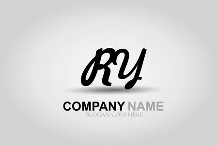 Vector Hand Drawn Letter RY Style Alphabet Font. Ilustrace
