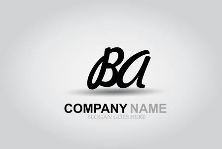 Vector Hand Drawn Letter BA Style Alphabet Font. Ilustrace