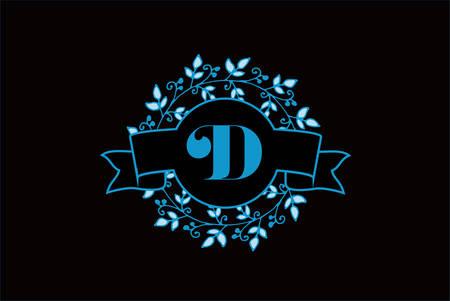 Elegant Monogram Letter D Logo Design Ilustrace