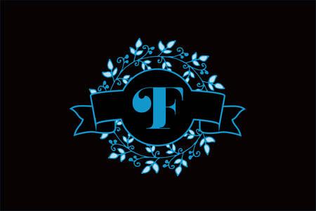 Elegant monogram letter F icon design.