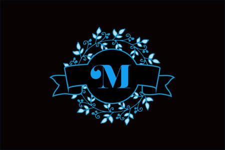 Elegant monogram letter M icon design.
