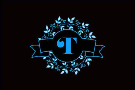 Elegant monogram letter T icon design.