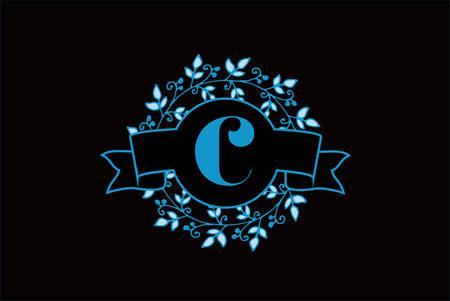 Elegant monogram letter C icon design. Ilustrace