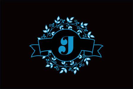 Elegant monogram letter J icon design.