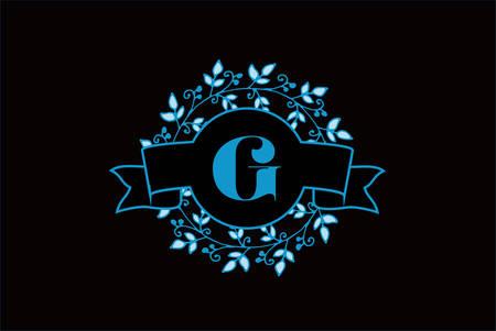 Elegant monogram letter G icon design.
