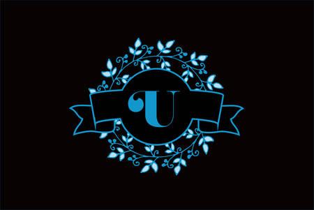 Elegant monogram letter U icon design. Ilustrace