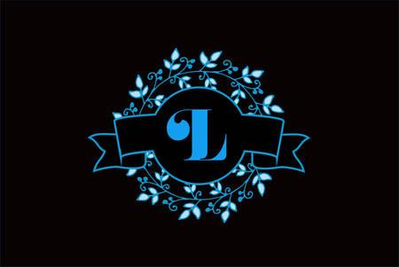 Elegant monogram letter L icon design.