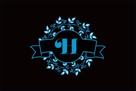 Elegant monogram letter H icon design. Ilustrace