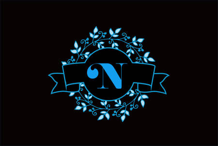 Elegant monogram letter N icon design. Ilustrace