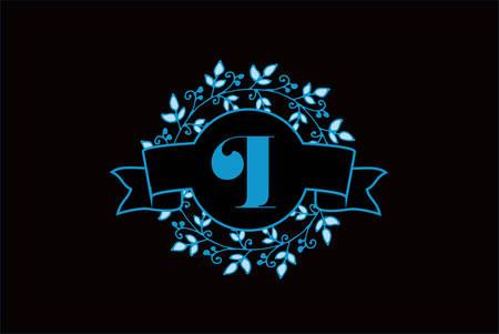 Elegant monogram letter I icon design.