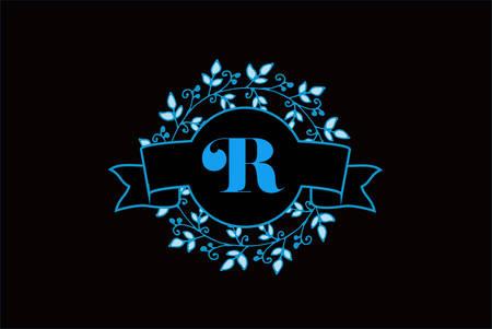 Elegant monogram letter R icon design.
