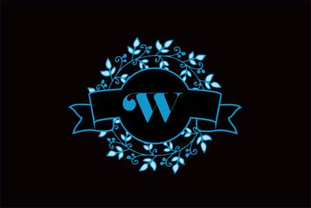 Elegant monogram letter W icon design.