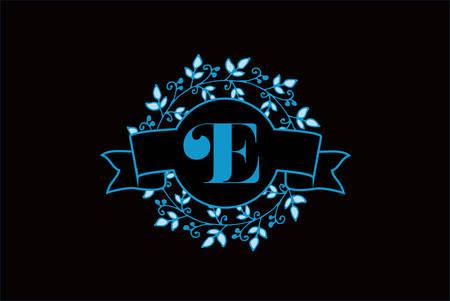 Elegant monogram letter E icon design.