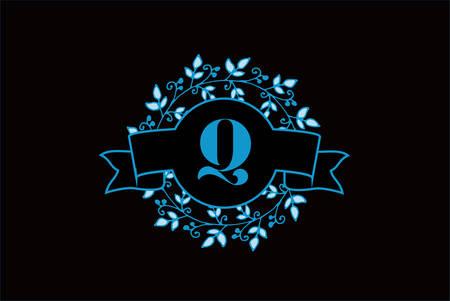 Elegant monogram letter Q icon design.