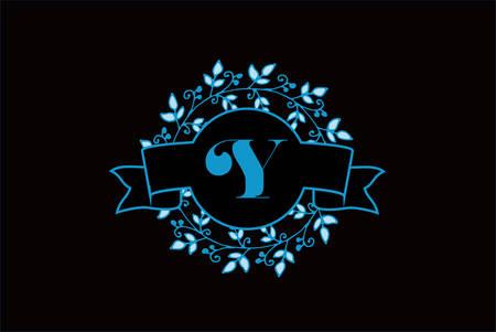 Elegant monogram letter Y icon design.