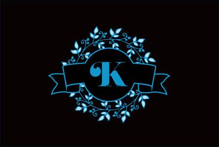 Elegant monogram letter K icon design.