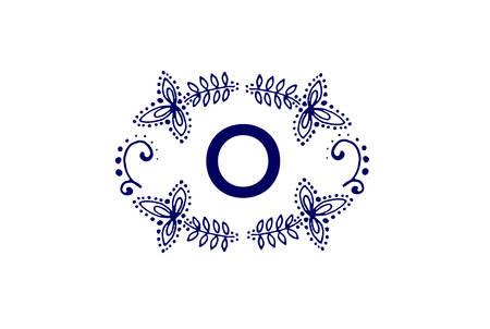 Luxury letter O icon design. Simple elegant monogram vector.