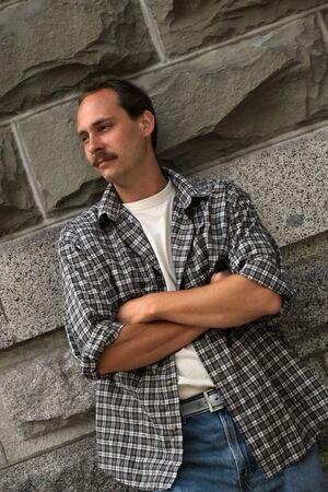 handsome rugged man
