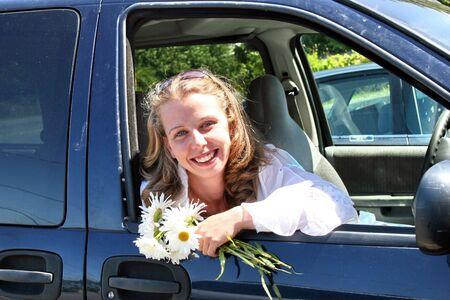 novia ir a la iglesia  Foto de archivo