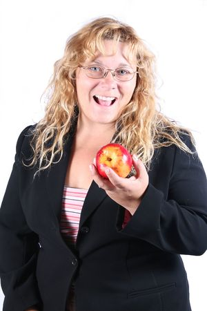 and apple a day keeps the doctor away Stock Photo - 561509