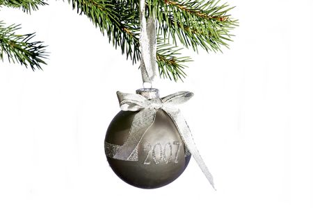 A very special christmas decoration hanging from xmas tree Stock Photo - 587583
