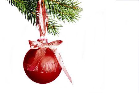 una bella decoraci�n Feliz Navidad  Foto de archivo