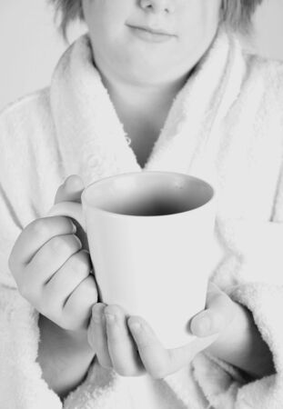 house coat: morning cup of coffee