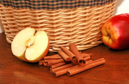 country kitchen: Country kitchen with apples and cinnamon