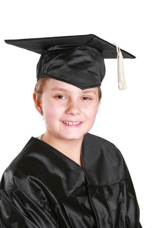 Graduation day for a young boy