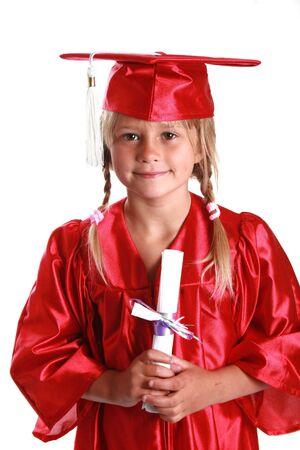 graduating from kindergarten.