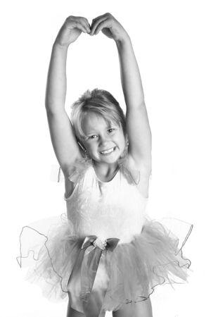 adorable sonriente bailarina  Foto de archivo