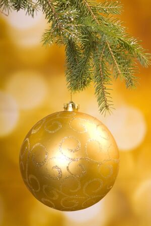 Gold and shiny decoration for Christmas Archivio Fotografico