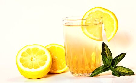 Summer drink, lemonaide or alcoholic beverage  Stock Photo