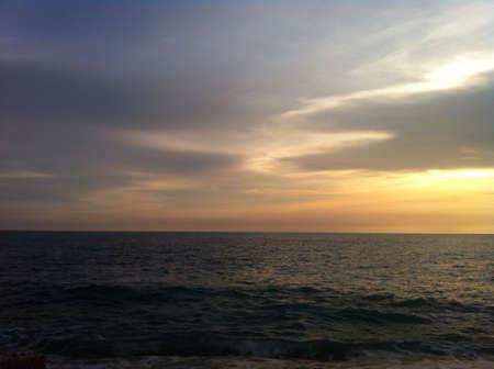 Sunset ver con ningún obstáculo a la vista. En Malasia Foto de archivo - 21438778
