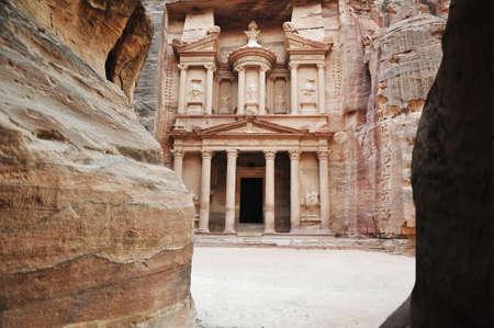Al Khazneh - the treasury of Petra ancient city, Jordan Banque d'images