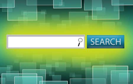 데이터 및 웹 페이지와 같은 사각형 엔진 바 검색 개념