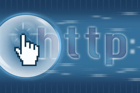HTTP Web surfing Concept with Click icon photo