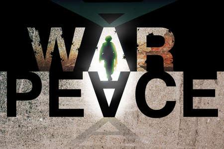 戦争と平和のイデオロギー。競合の概念。 写真素材