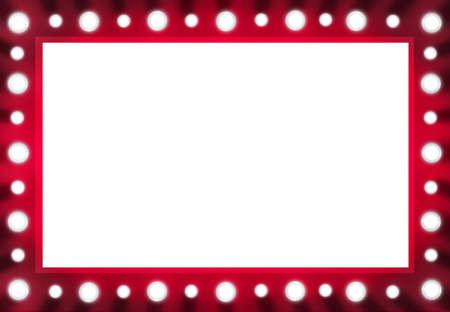 Promi Backstage Spiegel Holz und Zwiebeln Hintergrund Standard-Bild - 20758048