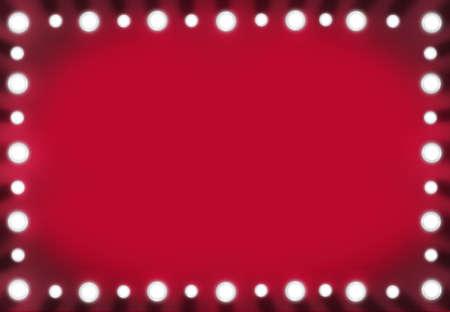 赤で虚栄心ミラー楽屋バック グラウンド