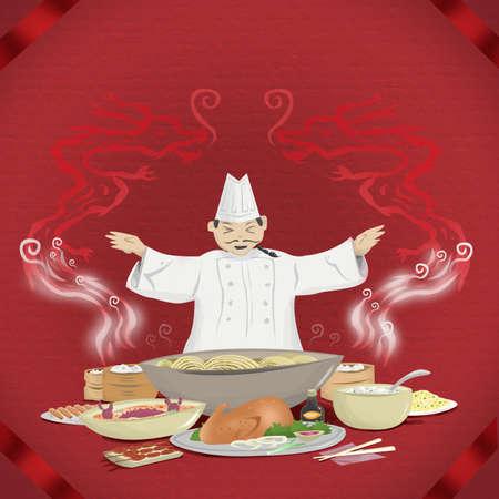 中国料理は、中国料理の概念を提示します。