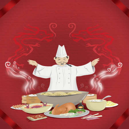 Chinese Cook presents Chinese Cuisine Concept photo