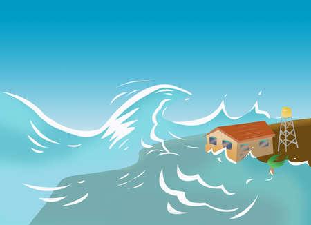 쓰나미와 폭풍 서지 개념