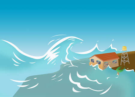Tsunami and Storm Surge concept