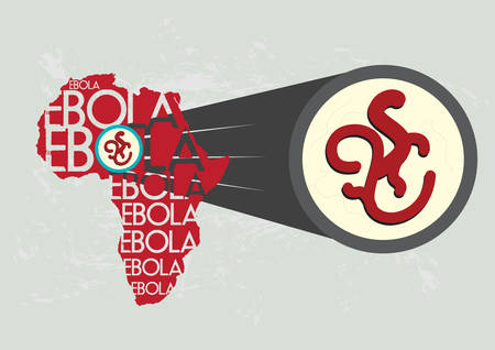 Ebola Virus in Africa Magnified Bigger Stock Vector - 30561998