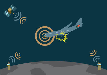 hijacked: Airplane explodes and crashes and sends distress signal      Illustration