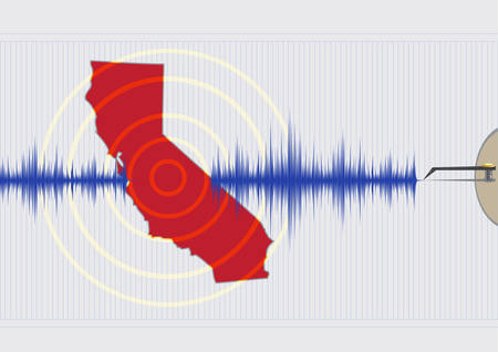 sismogr�fo: California Earthquake Concept Vectores