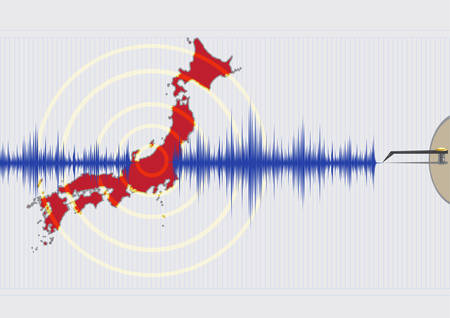 sismogr�fo: Terremoto en Jap�n Concepto Vectores