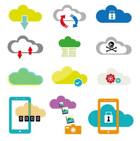 Cloud Computing collection    Illustration